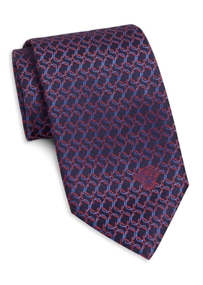 Versace Collection Interlocking Circle Silk Tie
