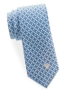 Versace Italian Silk Pattern Tie