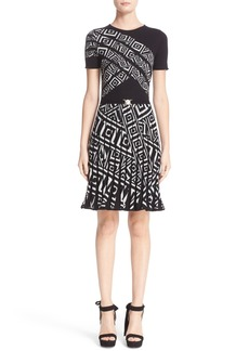 Versace Jacquard Knit Dress