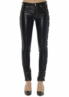 Versace Jeans Couture Black Slim Synthetic Fiber Pants