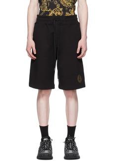 Versace Jeans Couture Black V Emblem Shorts