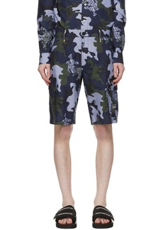Versace Jeans Couture Blue Camo Logo Shorts