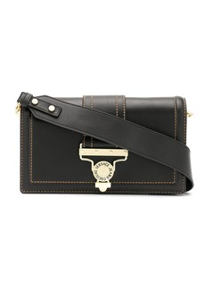 Versace stitch detail foldover top shoulder bag