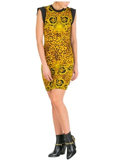 Versace Jeans Couture Knee Length Dress Sleeveless Leo Baroque