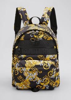 Versace Jeans Couture Men's Baroque Linea Macrologo Backpack