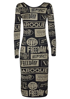 Versace Jeans Couture Multi-printed Dress
