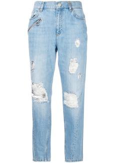 Versace Jeans distressed boyfriend jeans - Blue