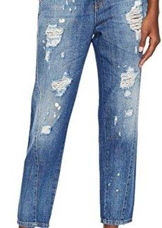 Versace Jeans Distressed Boyfriend Light Wash Jeans
