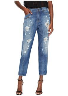 Versace Distressed Boyfriend Light Wash Jeans