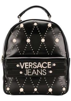Versace studded logo backpack
