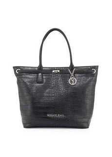 Versace Jeans Faux-Leather Croc-Embossed Large Tote Bag