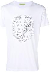 Versace Jeans logo print T-shirt - White