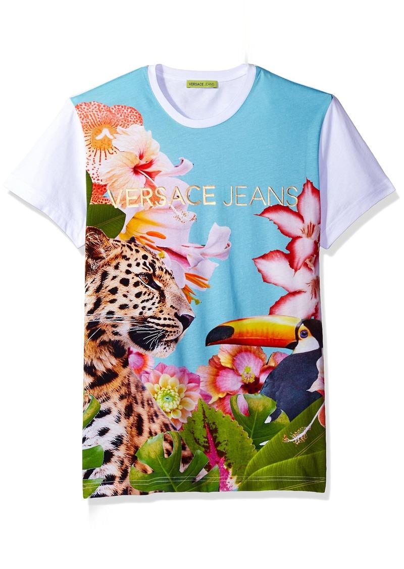 9e2de7ece Versace Jeans Iridescent Foil Logo T Shirt Dress - raveitsafe