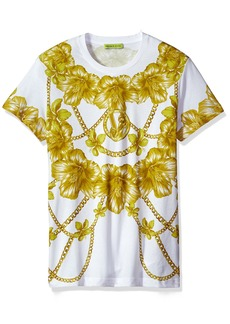 Versace Jeans Men's Gold Chain Print T-Shirt