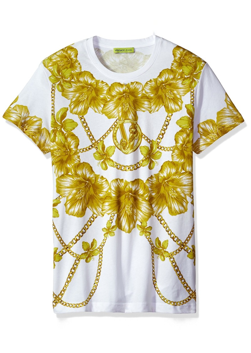 9abe6895 Versace Versace Jeans Men's Gold Chain Print T-Shirt | Misc Accessories