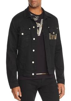 Versace Jeans Metallic Logo-Print Denim Jacket