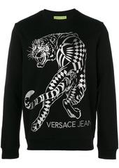 Versace Jeans tiger print sweatshirt - Black