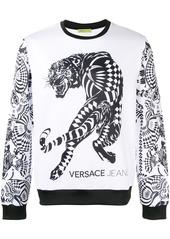 Versace Jeans tiger print sweatshirt - White