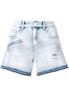 Versace Jeans washed denim shorts - Blue