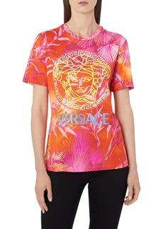 Versace Jungle Print Logo Tee