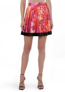 Versace Jungle Print Pleated Miniskirt