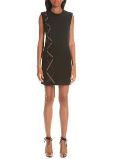 Versace Lace-Up Detail Dress