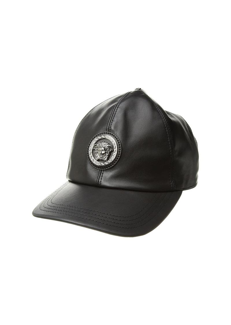 57ed37a59c8 Versace Leather Cap