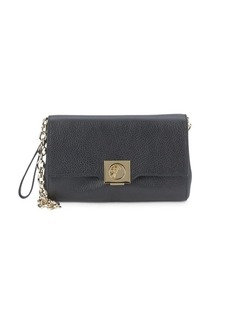 Versace Leather Chain Strap Wristlet