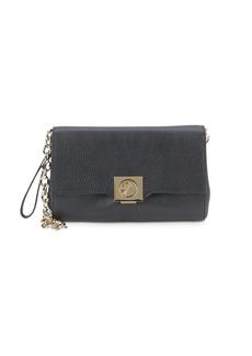 Versace Leather Chain Strap Wristlet