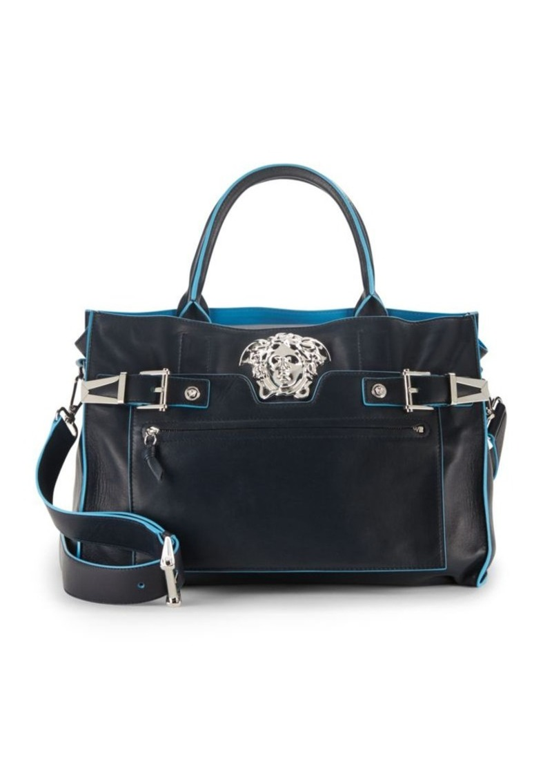 Versace Leather Crossbody Satchel