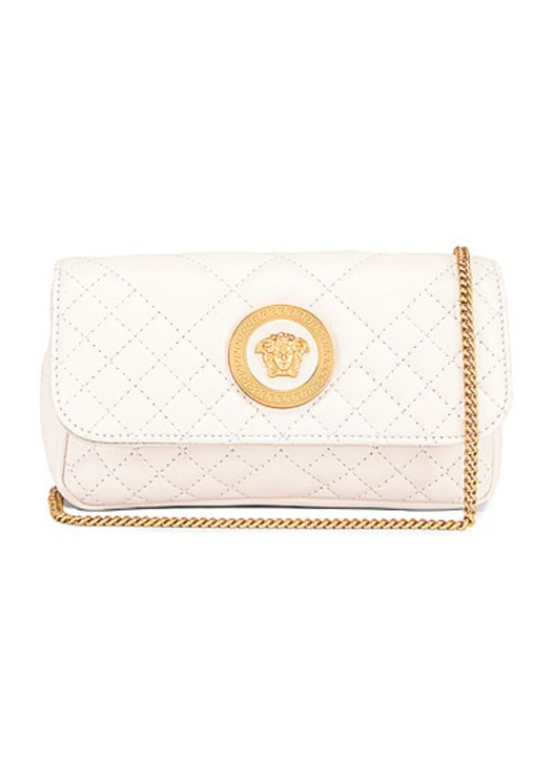 VERSACE Leather Tribute Mini Shoulder Bag