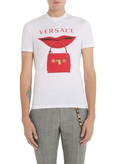 Versace Lip Logo Graphic T-Shirt