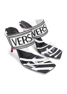 VERSACE Logo Clear Heel Sandals