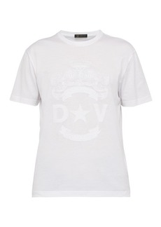 Versace Logo crest-embroidered T-shirt