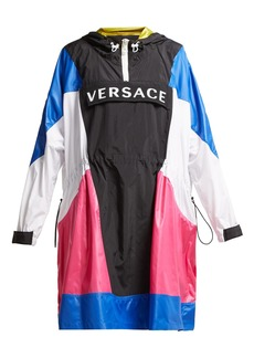 Versace Logo hooded technical jacket
