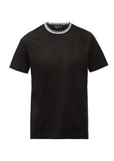 Versace Logo-jacquard crew-neck cotton T-shirt