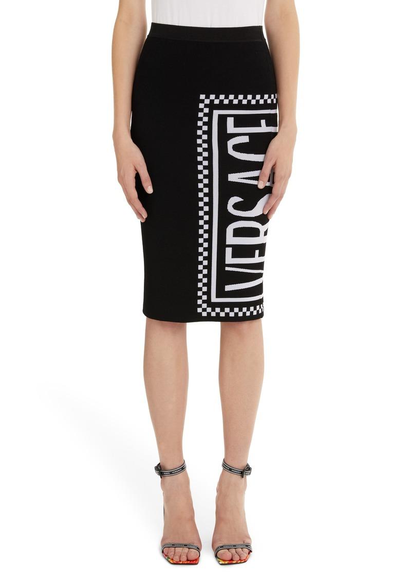 Versace Logo Knit Skirt