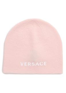 Versace Logo Knit Wool Beanie