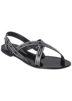 Versace Logo Leather Sandal
