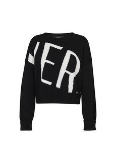 Versace logo long sleeve sweater