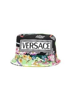 VERSACE Logo Print Bucket Hat