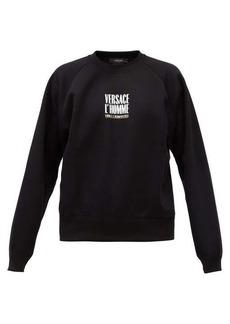 Versace Logo-print cotton-jersey sweatshirt