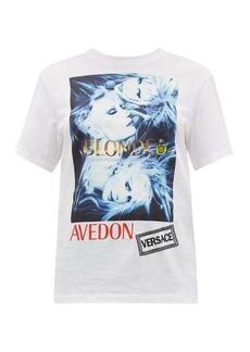 Versace Logo-print cotton-jersey T-shirt
