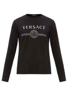 Versace Logo-print cotton jersey T-shirt
