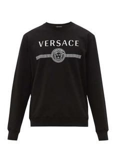 Versace Logo-print loop-back cotton-jersey sweatshirt