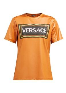 Versace Logo-print technical-jersey T-shirt