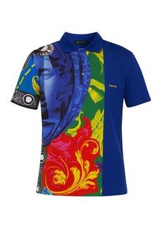 Versace Magna Grecia cotton polo shirt
