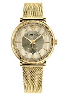 Versace Manifesto Mesh Strap Watch, 42mm