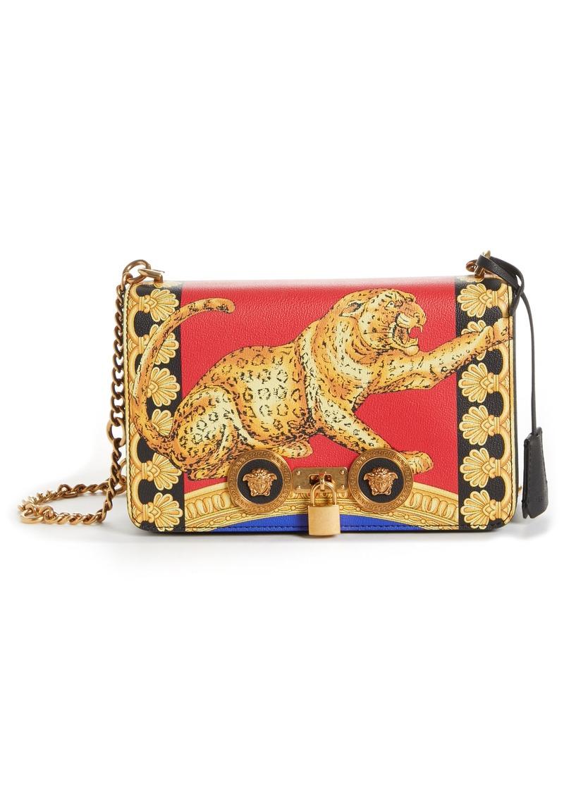 7ed024ab5f6 Versace Versace Pillow Talk Print Icon Leather Crossbody Bag