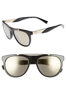 Versace Medusa 56mm Brow Bar Sunglasses